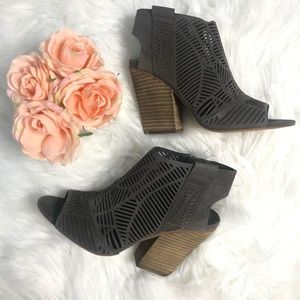 Vince Camuto Kimora Cutout Shield Sandel Booties